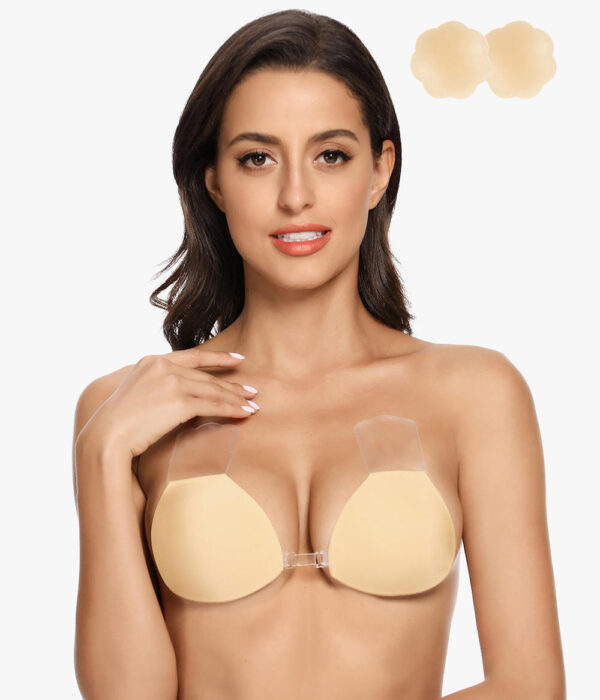 Breast Lift Nipple Covers with Transparent Cutable Tape