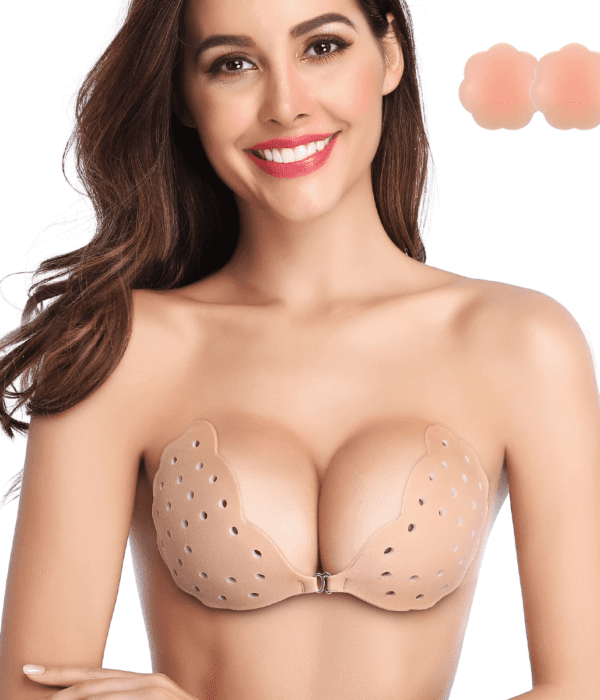 Breathable Strapless Backless Fabric Sticky Bra - Niidor