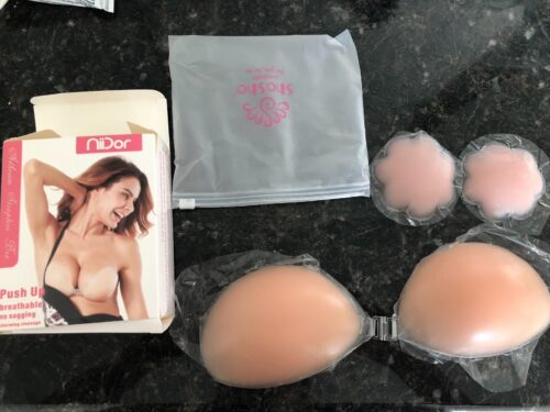 Backless Strapless Stick-on Silicone Bras photo review